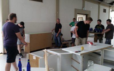 Umbauarbeiten im Haus Vulkania
