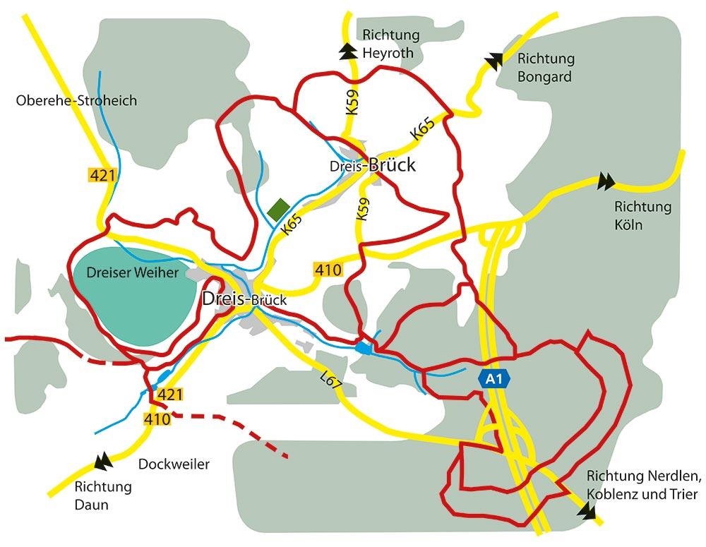 Eifel Karte Pdf.Rad Und Wanderwege Dreis Brück Lebendig Sprudelnd Aktiv